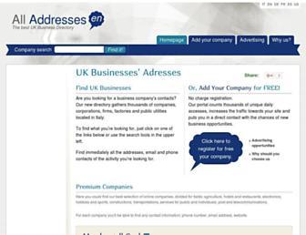 alladdress.co.uk screenshot