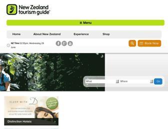 Main page screenshot of tourism.net.nz