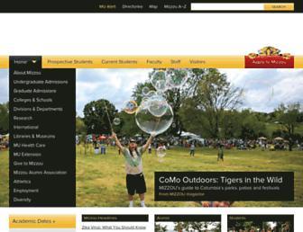Main page screenshot of missouri.edu