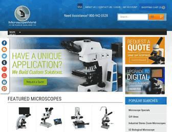 microscopeworld.com screenshot