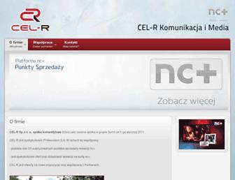 Main page screenshot of cel-r.pl