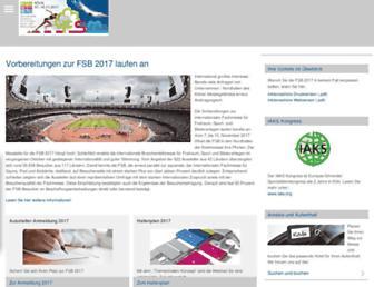 Main page screenshot of fsb-cologne.de