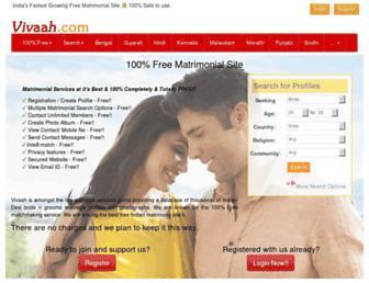 vivaah.com screenshot