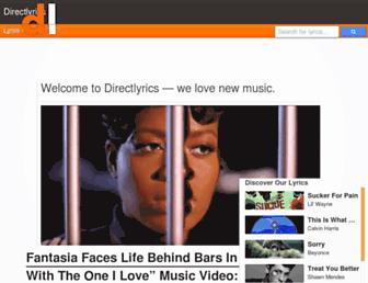 directlyrics.com screenshot