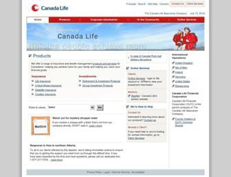 canadalife.com screenshot