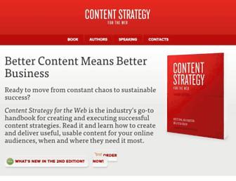 contentstrategy.com screenshot