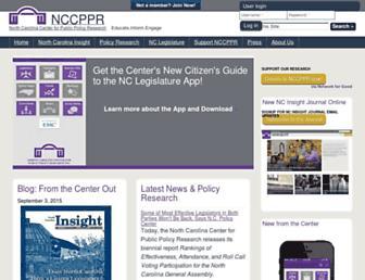 nccppr.org screenshot