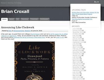 Main page screenshot of briancroxall.net