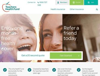 teachershealth.com.au screenshot