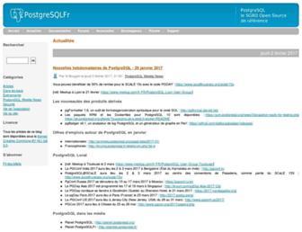 Main page screenshot of blog.postgresql.fr