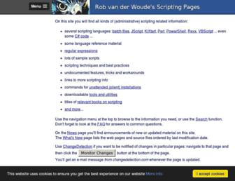 robvanderwoude.com screenshot