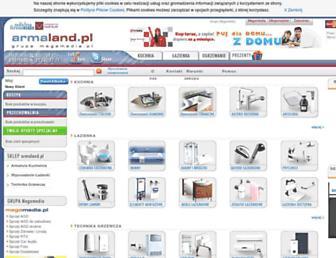 Main page screenshot of armaland.pl