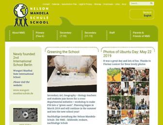 nelson-mandela-schule.net screenshot