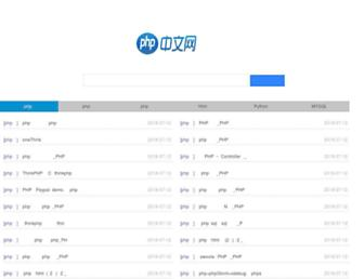 Main page screenshot of php.cn