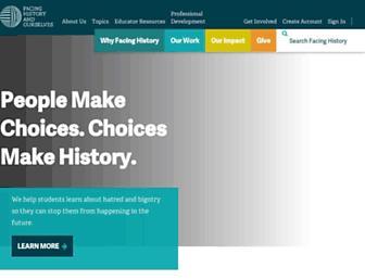 facinghistory.org screenshot