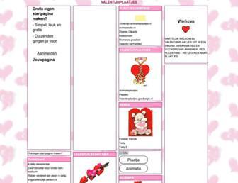 Main page screenshot of valentijnplaatjes.jouwpagina.nl
