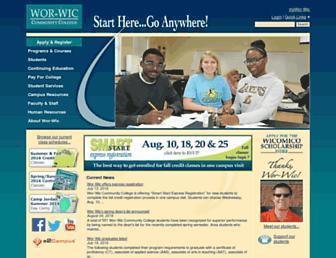 worwic.edu screenshot