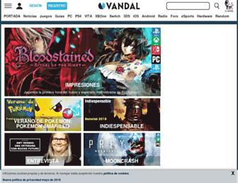vandal.elespanol.com screenshot