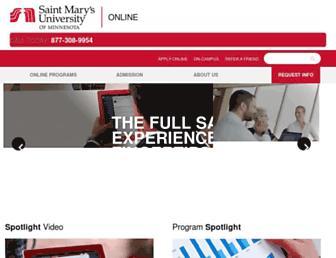 onlineprograms.smumn.edu screenshot