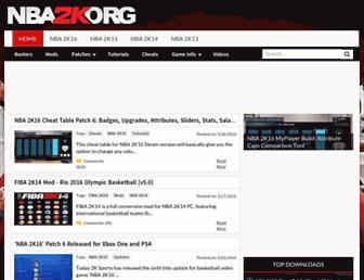 nba2k.org screenshot