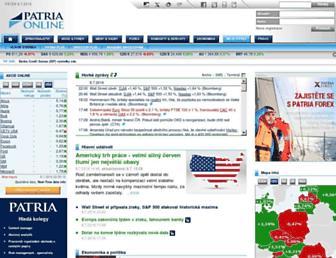 patria.cz screenshot