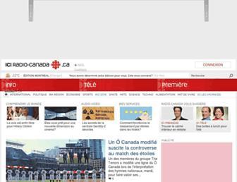Main page screenshot of radio-canada.ca