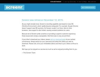 Thumbshot of Screenr.com