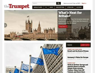 thetrumpet.com screenshot