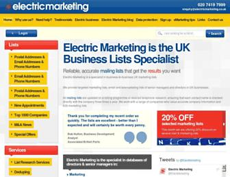 electricmarketing.co.uk screenshot