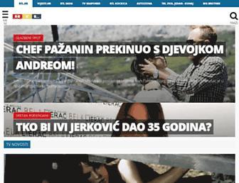 Main page screenshot of rtl.hr
