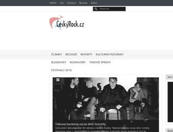 ceskyrock.cz screenshot
