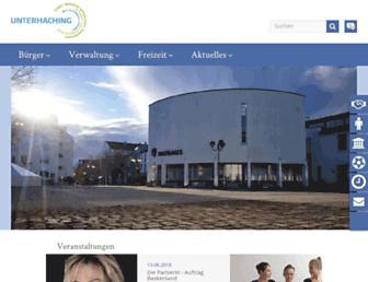 Main page screenshot of unterhaching.de