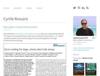 Main page screenshot of cyrille.rossant.net