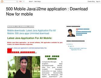 500javaapps.blogspot.com screenshot