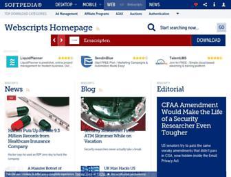 webscripts.softpedia.com screenshot