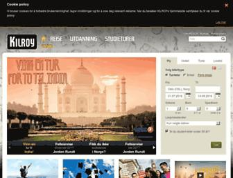 Main page screenshot of kilroy.no