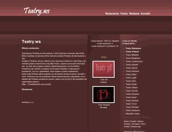 Main page screenshot of teatry.ws
