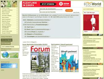 Main page screenshot of eco-world.de