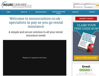 insurecarhire.co.uk screenshot