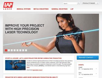 lap-laser.com screenshot