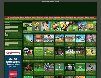 myfootballgames.co.uk screenshot