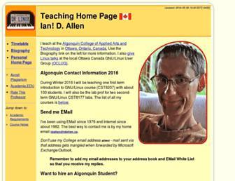 teaching.idallen.com screenshot