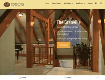 timberframe-houseplans.com screenshot