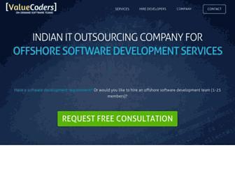valuecoders.com screenshot