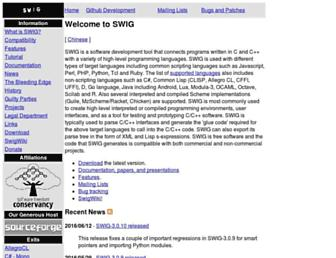Thumbshot of Swig.org