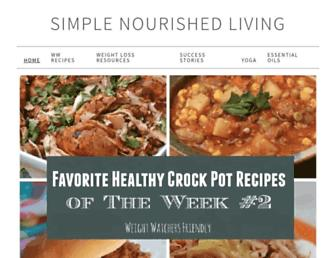 simple-nourished-living.com screenshot