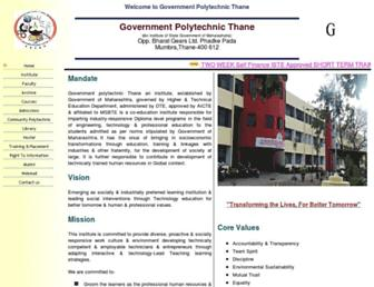 Main page screenshot of gpthane.org.in