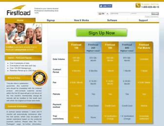 Main page screenshot of firstload.net