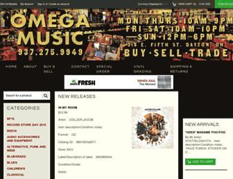 omegamusicdayton.com screenshot