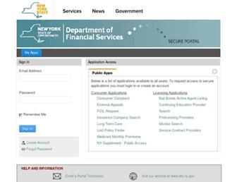 myportal.dfs.ny.gov screenshot